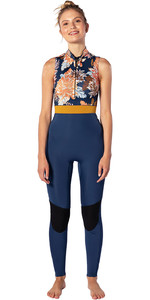2020 Rip Curl Womens G-Bomb 1.5mm Front Zip Long Jane Wetsuit WSM9SS - Navy