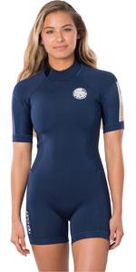 2020 Rip Curl Womens Dawn Patrol 2mm Back Zip Shorty Wetsuit WSP8FW - Stripe