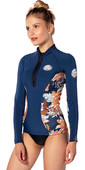 2020 Rip Curl Womens G-Bomb 1mm Neoprene Jacket WVE6KW - Navy