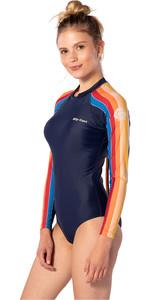 2020 Rip Curl Womens G-Bomb Back Zip Cheeky Surf Suit WLU9GW - Stripe
