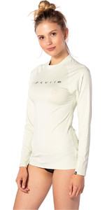 2020 Rip Curl Womens Sunny Rays Relaxed Long Sleeve Rash Vest WLY6FW - Mint
