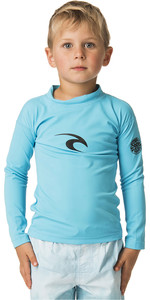 2020 Rip Curl Toddler Boys Corpo Long Sleeve Rash Vest WLY5CO - Blue