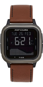 2020 Rip Curl Mens Next Tide Leather Watch A1145 - Gunmetal