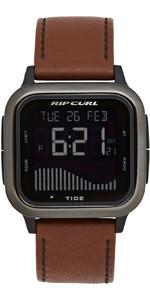 2020 Rip Curl Mens Next Tide Leather Watch A1145 - Gunmetal