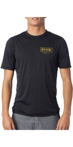 2020 Rip Curl Mens Driven Short Sleeve UV T-Shirt WLY9SM - Black