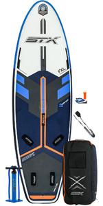 2021 STX Windsurf 280 Inflatable Stand Up Paddle Board Package - Board, Bag, Pump & Leash 11000 - Blue / Orange
