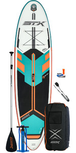 2021 STX Freeride 10'6 Inflatable Stand Up Paddle Board Package - Board, Bag, Paddle, Pump & Leash - Mint / Orange