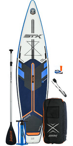2021 STX Touring 11'6 Inflatable Stand Up Paddle Board Package - Board, Bag, Paddle, Pump & Leash - Blue / Orange