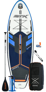 2020 STX Junior 8'0 Inflatable Stand Up Paddle Board Package - Board, Bag, Paddle, Pump & Leash - Blue / Orange