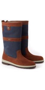2020 Dubarry Ultima ExtraFit Gore-Tex Leather Sailing Boots 3859 - Navy / Brown