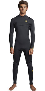 2020 Billabong Mens Furnace Absolute 5/4mm Chest Zip Wetsuit S45M51 - Antique Black