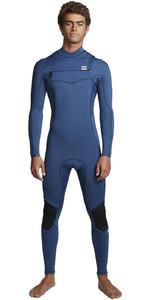 2020 Billabong Mens Furnace Absolute 5/4mm Chest Zip Wetsuit S45M51 - Blue Indigo