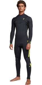 2020 Billabong Mens Furnace Absolute 3/2mm Chest Zip Wetsuit S45M51 - Lime
