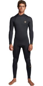 2020 Billabong Mens Furnace Absolute 3/2mm Flatlock Back Zip Wetsuit S43M57 - Antique Black