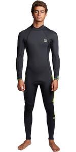 2020 Billabong Mens Furnace Absolute 4/3mm Back Zip Wetsuit S44M53 - Lime
