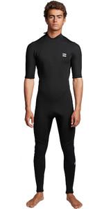 2020 Billabong Mens Absolute 2mm Back Zip Short Sleeve Wetsuit S42M69 - Black