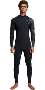 2020 Billabong Mens Furnace Comp 3/2mm Chest Zip Wetsuit S43M50 - Black Camo
