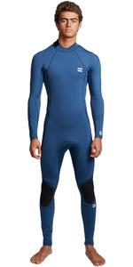2020 Billabong Mens Furnace Absolute 3/2mm Flatlock Back Zip Wetsuit S43M57 - Blue Indigo