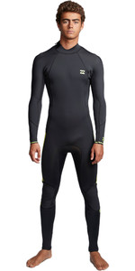 2020 Billabong Mens Furnace Absolute 3/2mm Flatlock Back Zip Wetsuit S43M57 - Lime