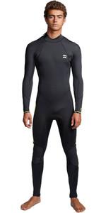 2020 Billabong Mens Furnace Absolute 3/2mm Flatlock Back Zip Wetsuit S43M57 - Lime