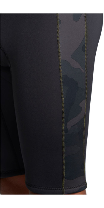 2020 Billabong Mens Revolution 2mm Short John Wetsuit S42M61 - Black Camo
