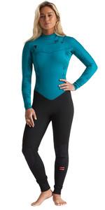2020 Billabong Womens Furnace Synergy 5/4mm Chest Zip Wetsuit S45G52 - Mermaid