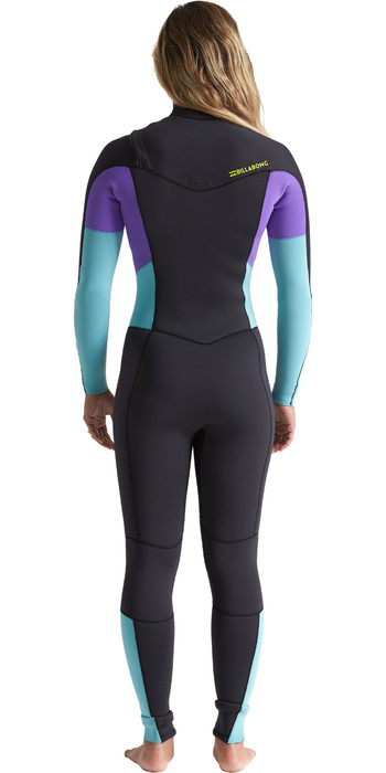 2020 Billabong Womens Furnace Synergy 4/3mm Chest Zip Wetsuit S44G52 - Blue Lagoon