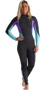 2020 Billabong Womens Furnace Synergy 4/3mm Chest Zip Wetsuit S44G52 - Blue Lagoon