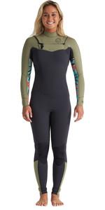 2020 Billabong Womens Salty Dayz 3/2mm Chest Zip Wetsuit S43G51 - Aloe