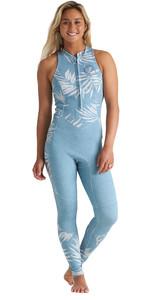 2020 Billabong Womens Salty Jane 2mm Front Zip Wetsuit S42G54 - Blue Palms