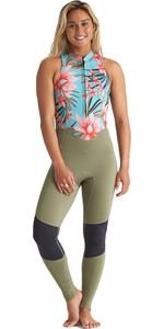 2020 Billabong Womens Salty Jane 2mm Front Zip Wetsuit S42G54 - Waterfall