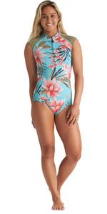 2020 Billabong Womens Captain 1mm Sleeveless Shorty Wetsuit S42G56 - Waterfall