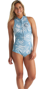 2020 Billabong Womens Salty Dayz 1mm Sleeveless Shorty Wetsuit S42G58 - Blue Palms