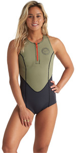 2020 Billabong Womens Shorty Jane 1mm Crossback Spring Wetsuit S41G62 - Aloe