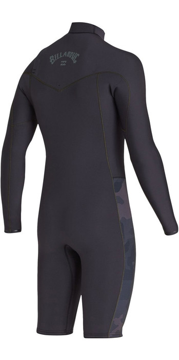 2020 Billabong Mens Revolution 2mm Long Sleeve Chest Zip Wetsuit S42M58 - Black Camo