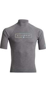 2020 Billabong Unity Short Sleeve Rash Vest S4MY20 - Grey Heather