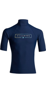 2020 Billabong Unity Short Sleeve Rash Vest S4MY20 - Navy