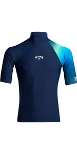 2020 Billabong Contrast Short Sleeve Rash Vest S4MY06 - Navy
