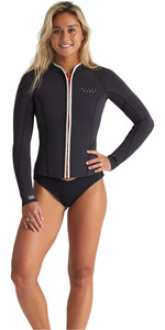 2020 Billabong Womens Eco Peeky 2mm Neoprene Jacket S41G51 - Onyx