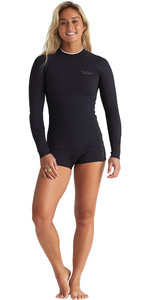 2020 Billabong Womens Eco Spring Fever 2mm Long Sleeve Shorty Wetsuit S42G50 - Onyx