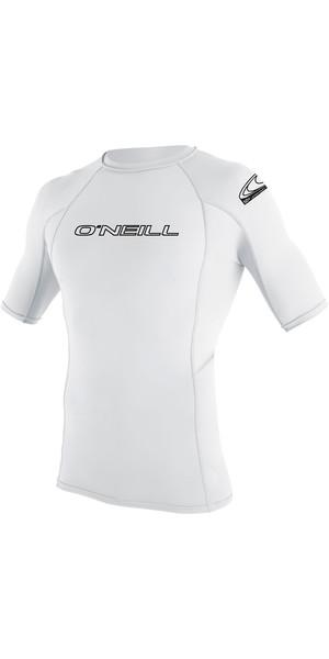 2019 O'Neill Youth Basic Skins Short Sleeve Rash Vest White 3345