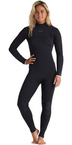 2020 Billabong Womens Eco Salty Dayz 5/4mm Chest Zip GBS Wetsuit S45G50 - Onyx