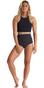 2020 Billabong Womens Eco Sea Crop Sleeveless 2mm Neoprene Top & Hightide Shorts Combi Set -  Onyx