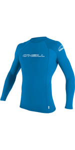 2019 O'Neill Youth Basic Skins Long Sleeve Rash Vest Brite Blue 3346