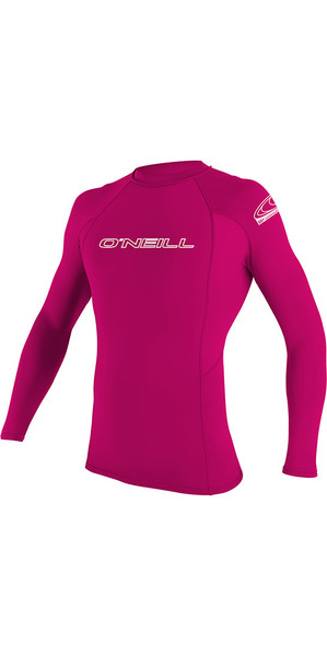 2018 O'Neill Youth Basic Skins Long Sleeve Rash Vest Watermelon 3346
