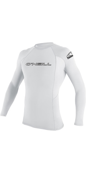 2018 O'Neill Youth Basic Skins Long Sleeve Rash Vest White 3346