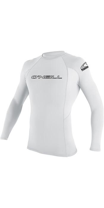 O'Neill Youth Basic Skins Long Sleeve Rash Vest White 3346