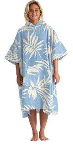 2020 Billabong Womens Hooded Poncho Change Towel S4BR50 - Blue Palms