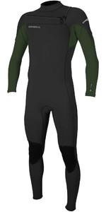 2020 O'Neill Mens Hammer 3/2mm Chest Zip Wetsuit 4926 - Black / Dark Olive