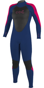 2020 O'Neill Youth Girls Epic 5/4mm Back Zip GBS Wetsuit 4219G - Navy / Berry